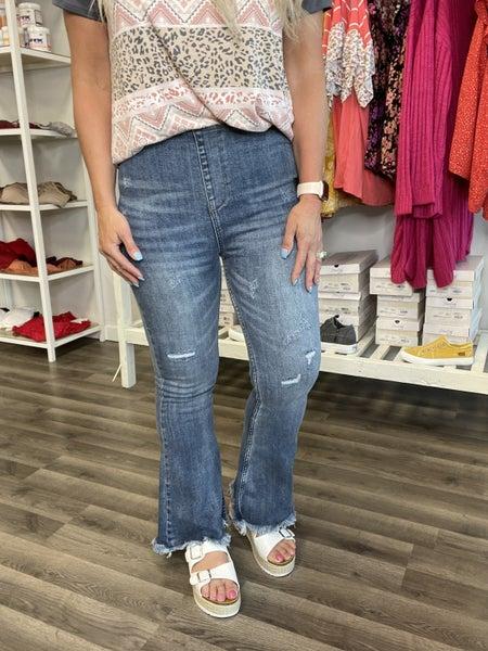 Risen Von Vintage Pull On Flare Jeans 14R