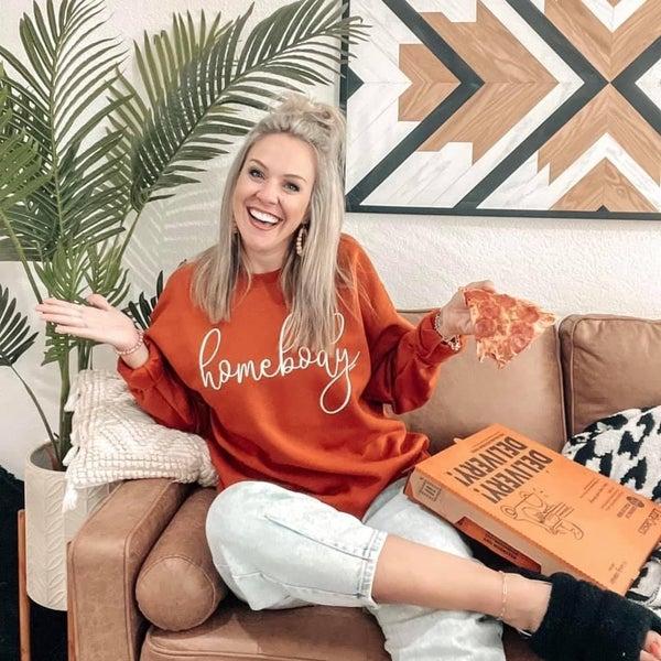 Rust Homebody Crewneck Sweatshirt