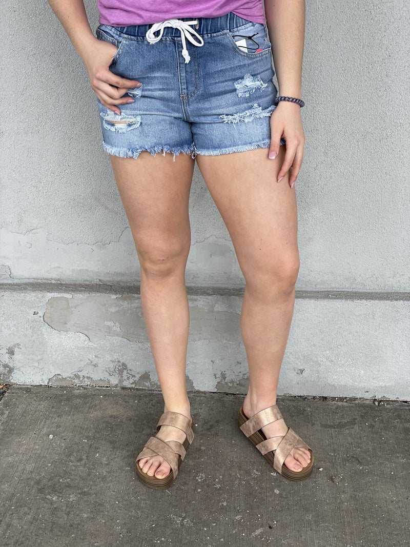 Denim Dream Jogger Shorts