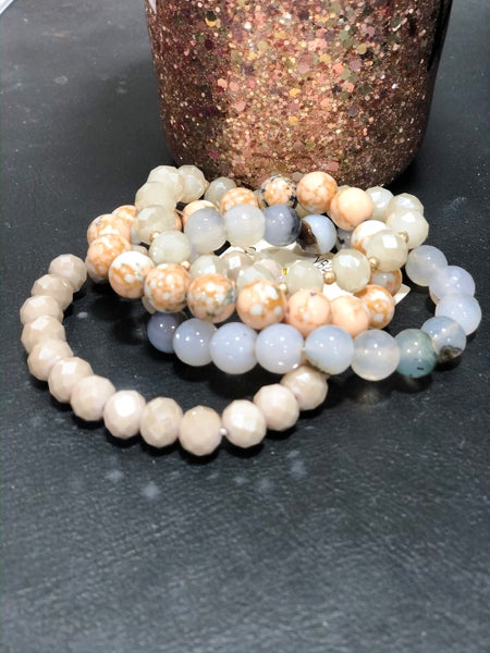 Peach Smoothie Bracelet Set