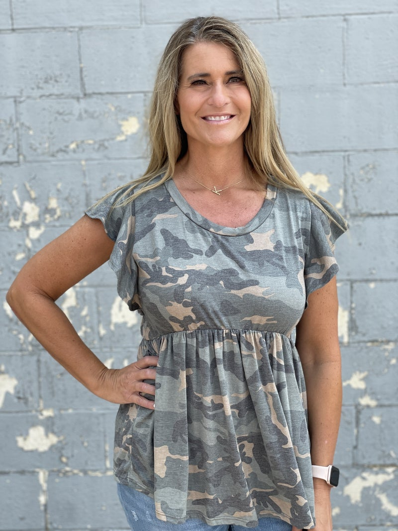 All Things Camo Top
