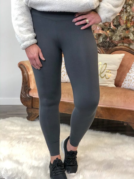 Everyday Grey Buttery Soft Leggings *Final Sale*