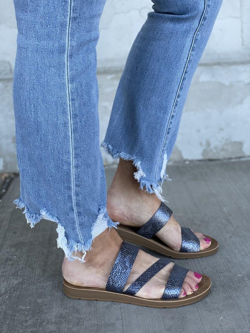 Lydia Navy Sandals *Final Sale*