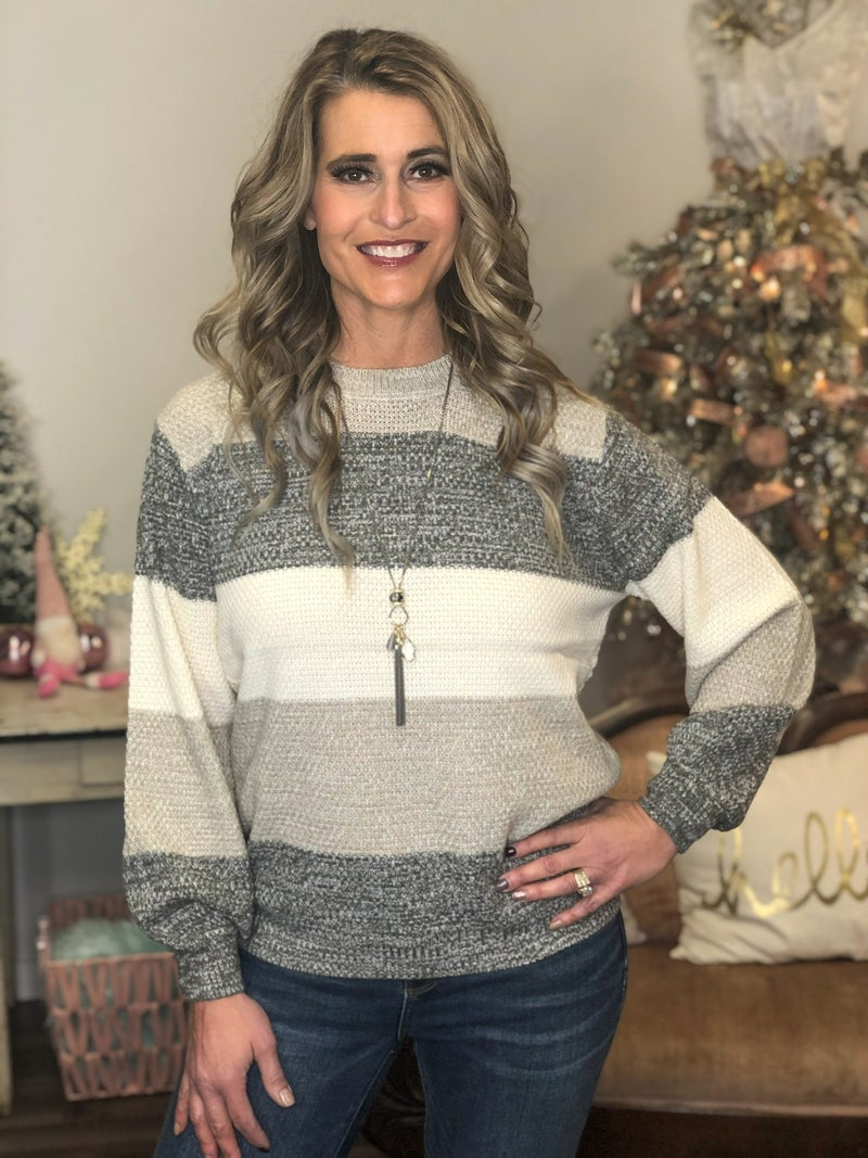All The Warm Tones  Color Block Sweater *Final Sale*