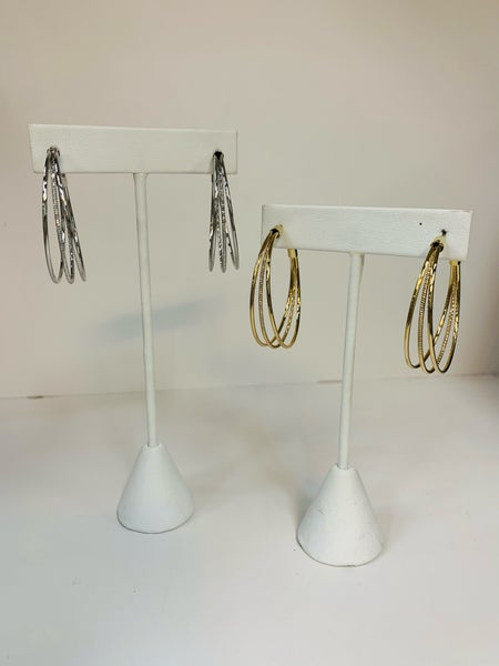 3 Layer Hoop Earring