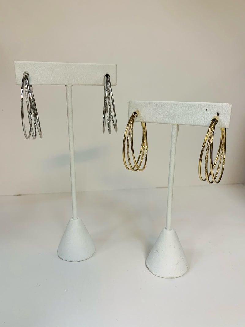 3 Layer Hoop Earring