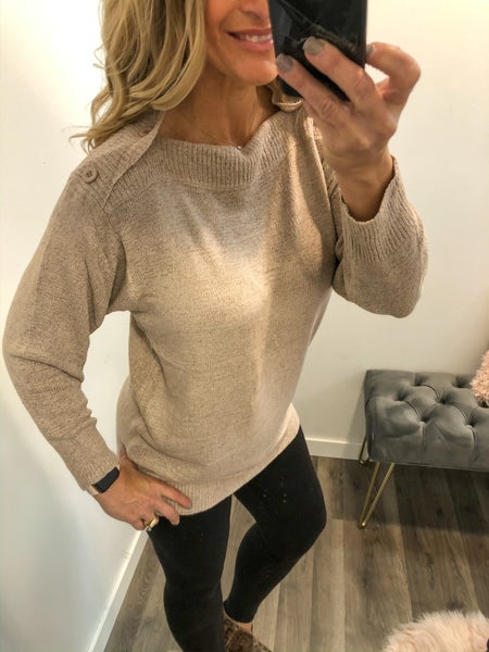 Light Latte Sweater Top