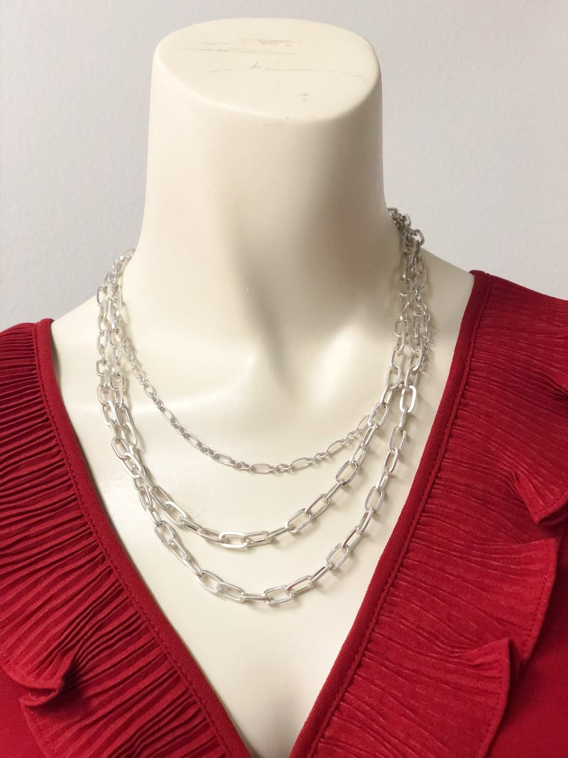 Posh Paperclip Chain Layered Necklace