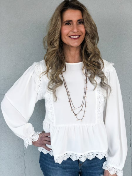Ivory & Lace Top