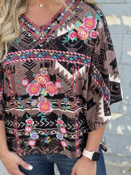 Give It Your All Poncho Top