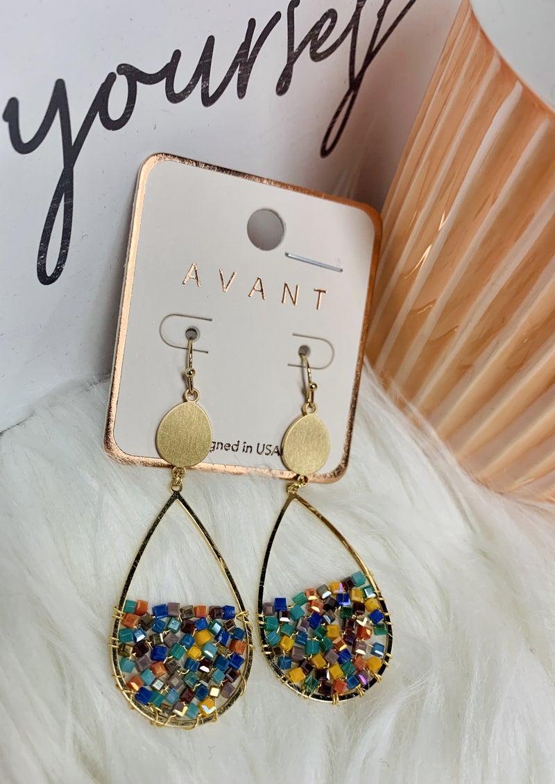 Beaded With Love Earrings