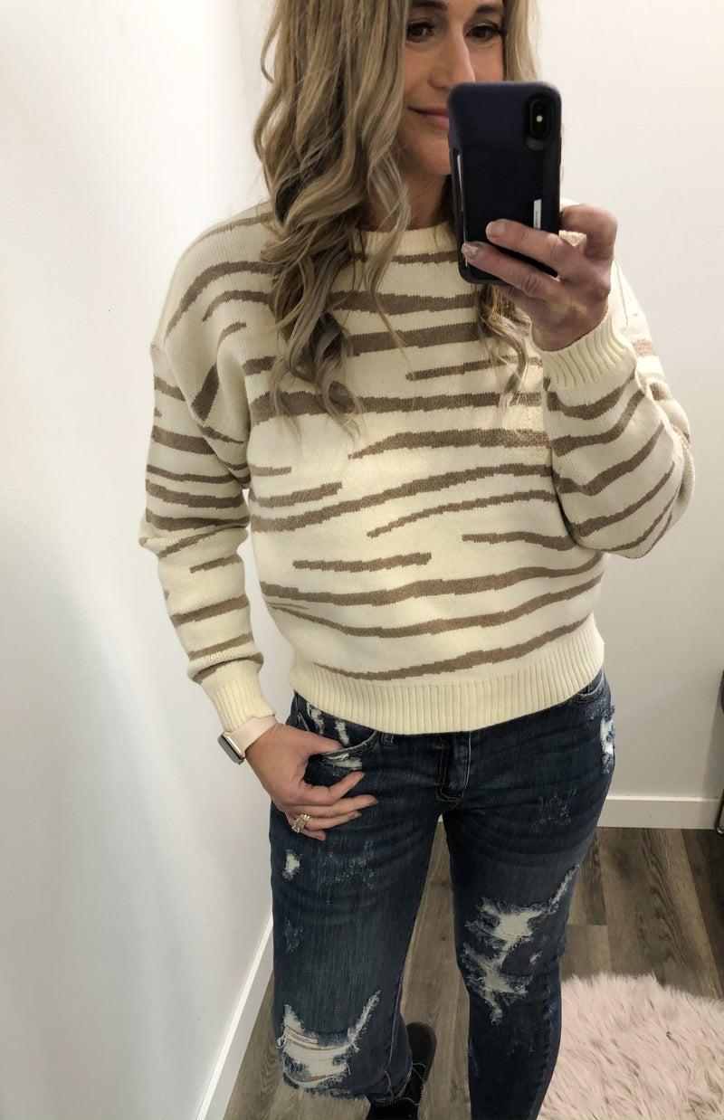 Slanted Lines Zeb Sweater