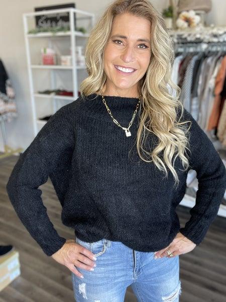 Aspen Lane Black Sweater