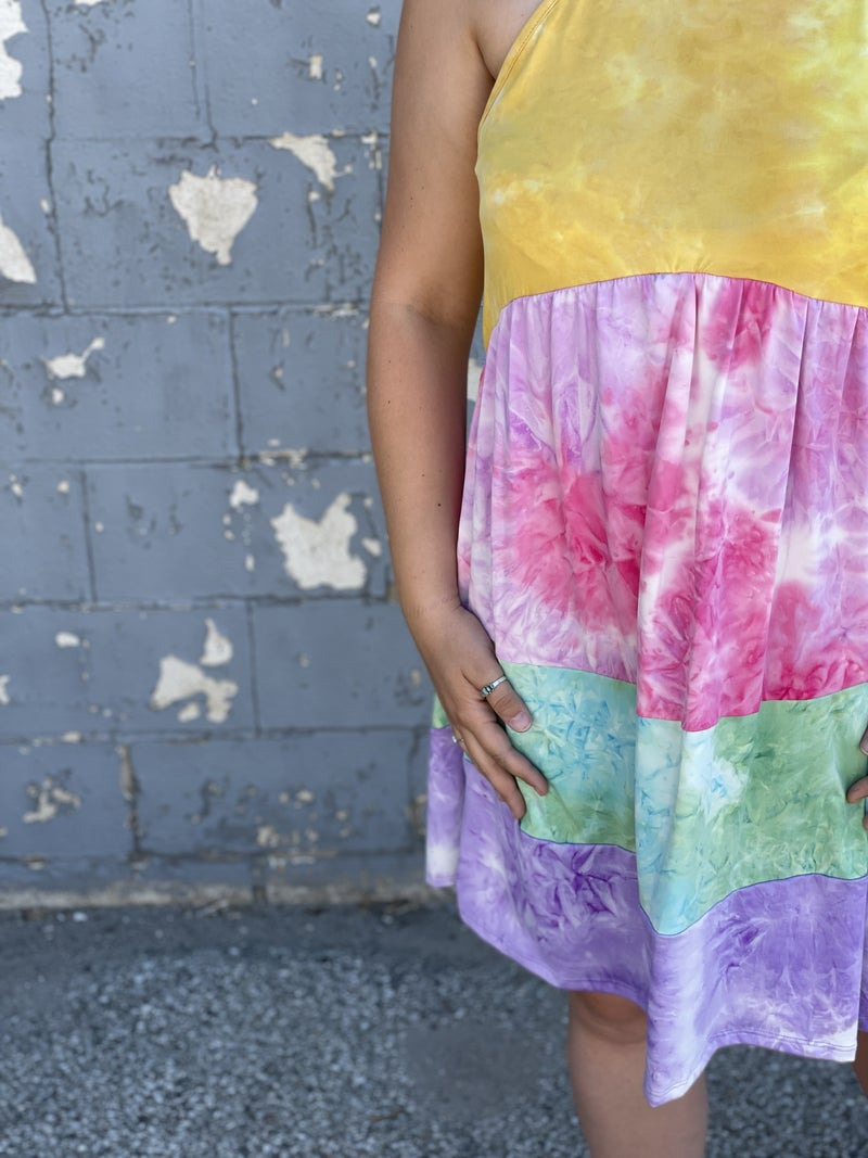 Rainbow Delight Layered Dress