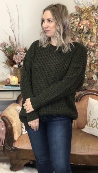 Curvy Box Knit Sweater *Final Sale*