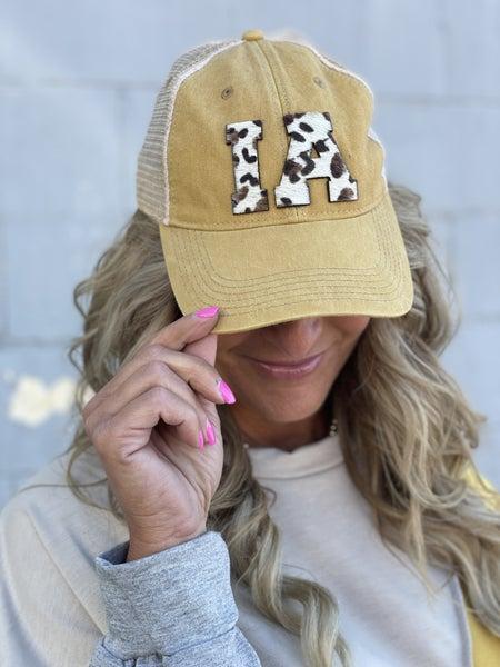 Mustard Hair On Hide IA Cap