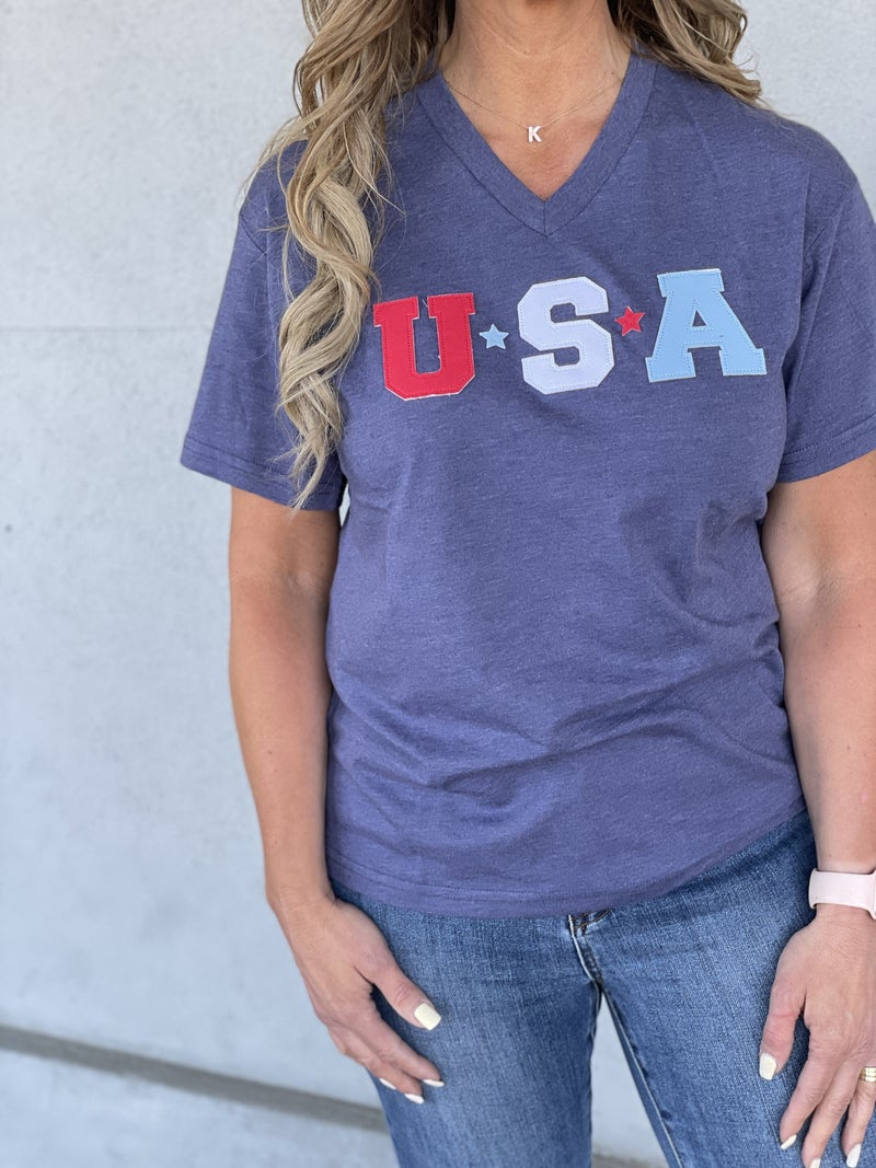 USA Patches Tee