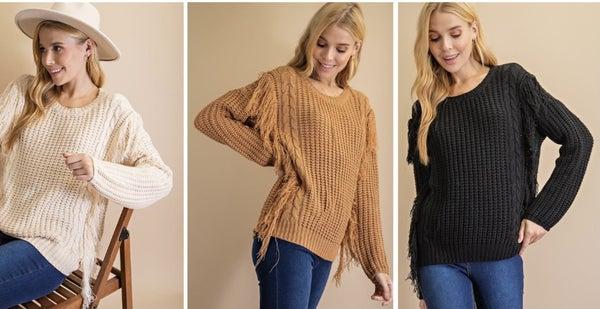 Fringed On The Edge Sweater