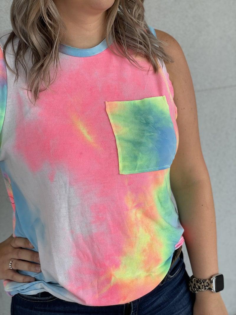 Rainbow's Edge Tie Dye Tank