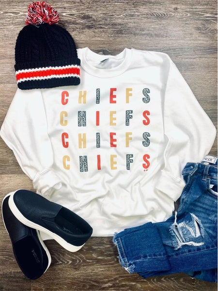 CHIEFS Repeat Sweatshirt (pre-order to arrive 2-5)CLOSED-pls do not order
