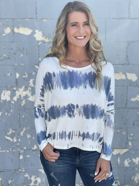 Blue Commotion Layer Top