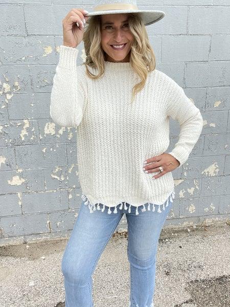 Fringy Fields Sweater