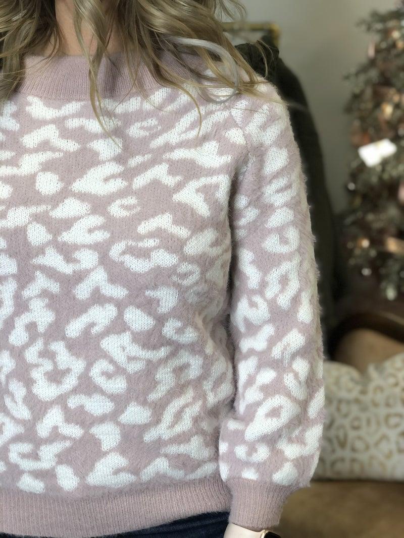 Pink Animal Softest Sweater