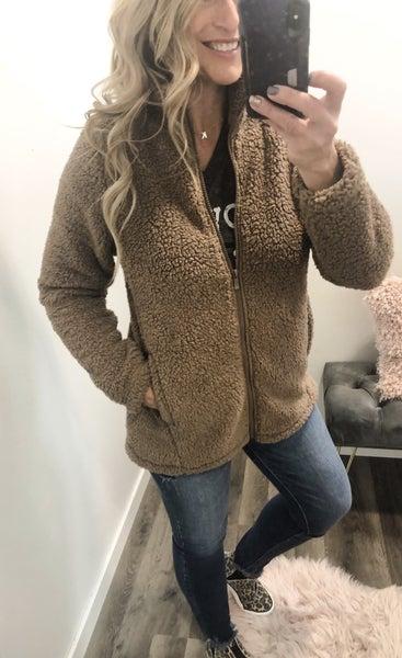 So Good Sherpa Full Zip Jacket *Final Sale*
