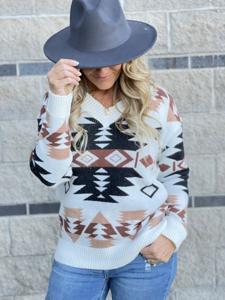 Aztec Oasis Sweater