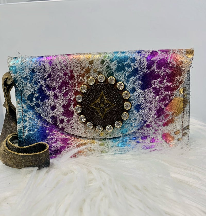 Upcycled  Hair On Hide Nora Wristlet