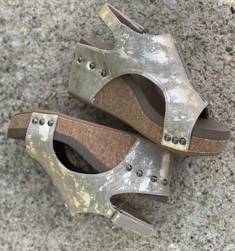Carley Taupe Metallic Sandal