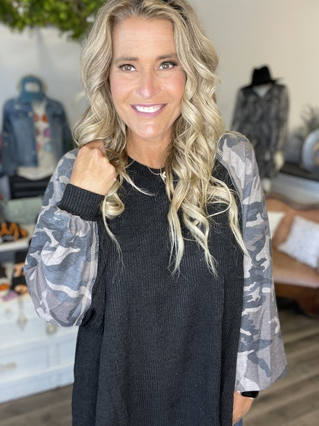 Curvy Camo In The Midst Top