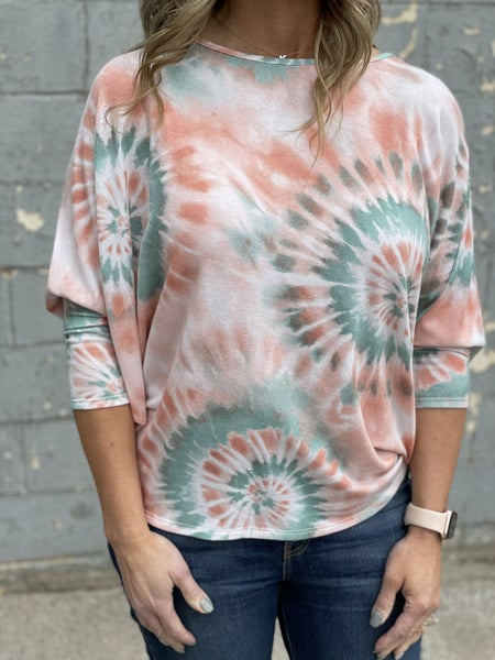 Sage and Coral Oasis Top