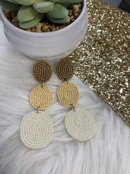Pizzazz Triple Round Drop Earrings