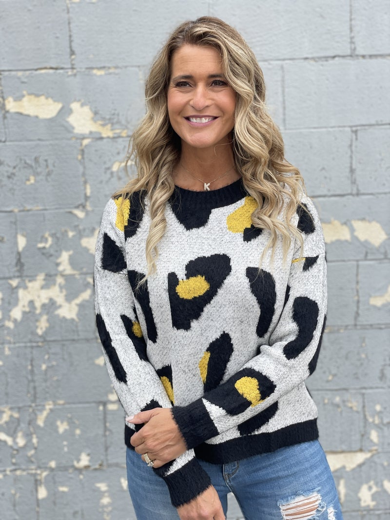 Cozy Abstract Animal Sweater