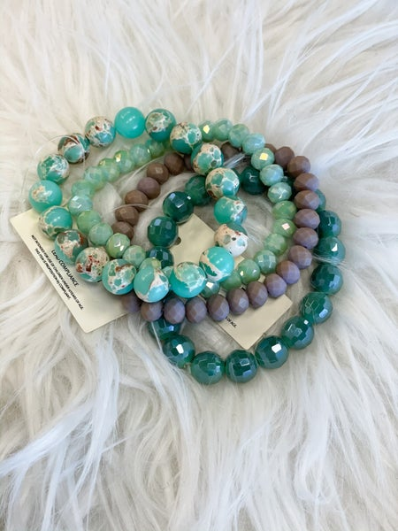 Marbled Jade Stretch Bracelet Set *Final Sale*