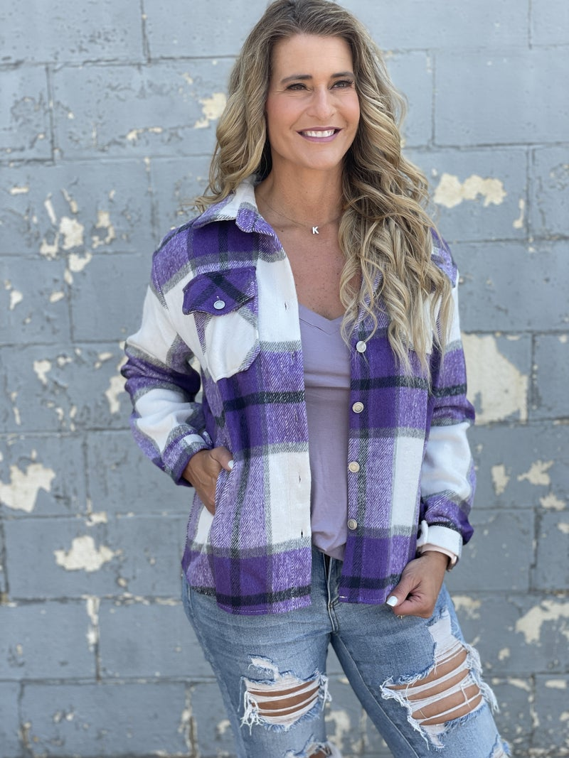 Snazzy Plaid Shacket
