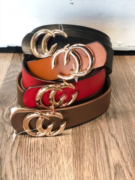 CC Leather Belt