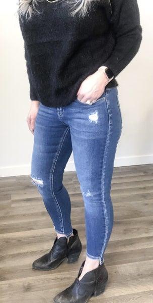 KanCan Katelynn Step Hem Mid-High Rise Jean 18M