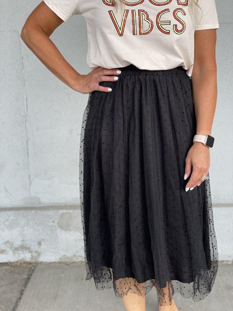 Dotted Love Midi Skirt