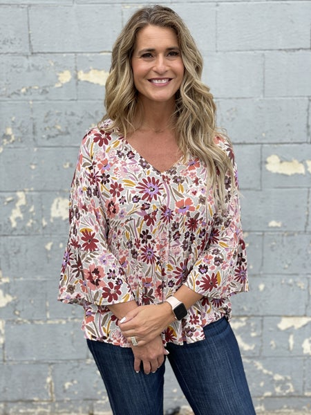 So In Love Floral Top