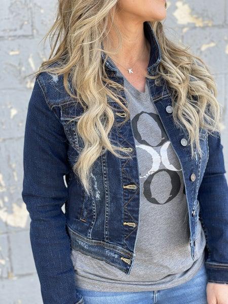 Street Style Distressed Denim Jacket