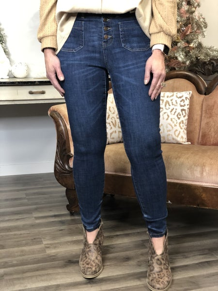 Judy Blue Poppy Front Pocket Jeans 34R