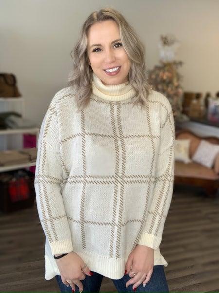 Hot Cocoa Plaid Sweater