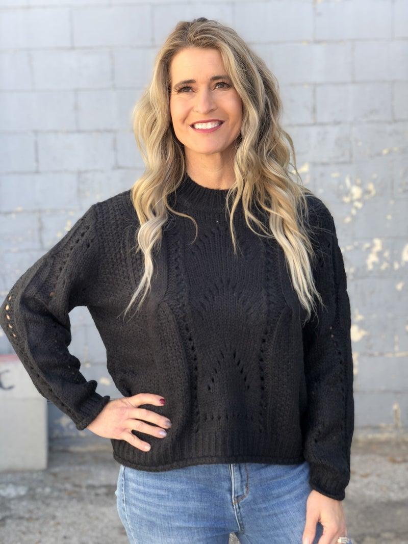 Great Escape Black  Sweater