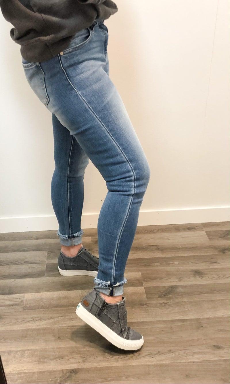 KanCan Daisy Mid-High Rise Cuffed Jean 321