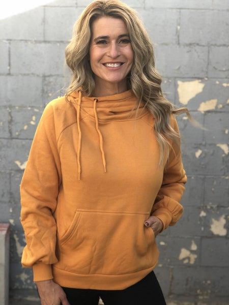 Side Tie Gold Hoodie Sweatshirt *Final Sale*