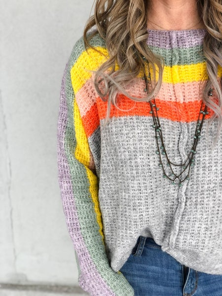 Bright Stripes Soft Brushed Sweater