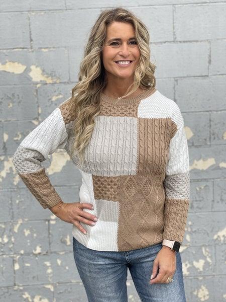 Mixed Up Neutrals Sweater
