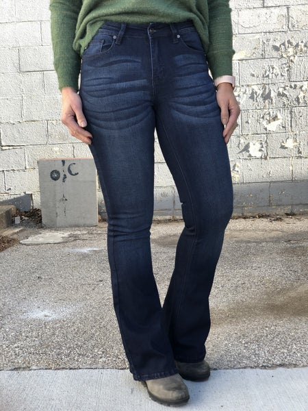 KanCan Dakota High Rise Dk Flare Jeans 02D